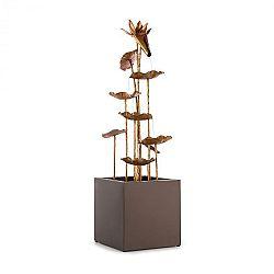 Blumfeldt Golden Orchid, záhradná fontána, pumpa 5W, IPX8, mosadzný vzhľad