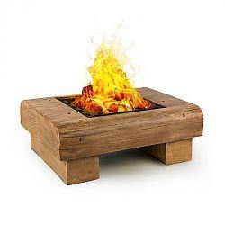 Blumfeldt Lombardia, ohnisko, 40 x 40 cm, BBQ jama, ochrana pred iskrami, MagicMag, drevený vzhľad