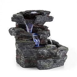 Blumfeldt Rochester Falls, záhradná fontána, IPX8, 6 W, polyresin, 3 LED diódy, kamenný vzhľad