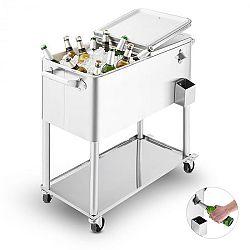 Blumfeldt Springbreak 2000, vozík na nápoje, chladiaci vozík na terasy, 80 l, ušľachtilá oceľ