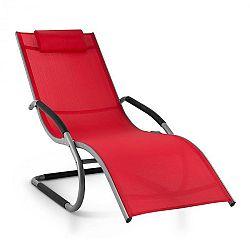Blumfeldt Sunwave, záhradné lehátko, hojdacie ležadlo, relax, hliník, červené
