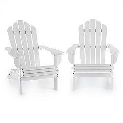 Blumfeldt Vermont, set záhradných stoličiek, 2 ks, adirondack, 73 x 88 x 94 cm, sklopiteľné, biele