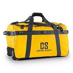 Capital Sports Travel L, cestovná taška, ruksak, 90 l, vozík, nepremokavý, žltý