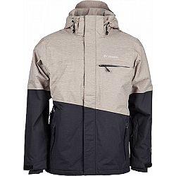 Columbia PISTE BEAST JACKET béžová XXL - Pánska zimná bunda
