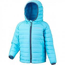Columbia POWDER LITE GIRLS HOODED JACKET červená 2 - Dievčenská bunda