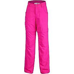 Columbia SILVER RIDGE III CONVT G ružová XS - Dievčenské outdoorové nohavice