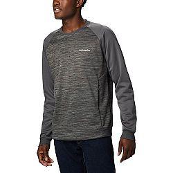 Columbia TECH TRAIL MIDLAYER CREW tmavo šedá XL - Pánsky outdoorový sveter