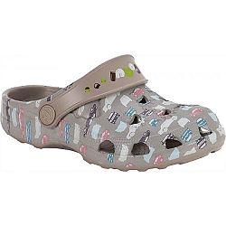 Coqui LITTLE FROG PRINTED béžová 27/28 - Detské sandále