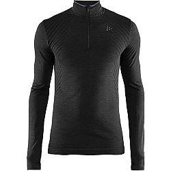 Craft FUSEKNIT COMFORT ZIP M čierna M - Pánske funkčné tričko