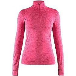 Craft FUSEKNIT COMFORT ZIP ružová M - Dámske funkčné tričko