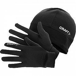 Craft RUNNING WINTER GIFT PACK čierna M - Sada rukavíc a čiapka.