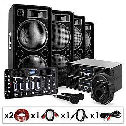 Electronic-Star Bass First Pro Bluetooth, DJ PA systém, 2 x zosilňovač, 4 x reproduktor, mixážny pult, 4000 W