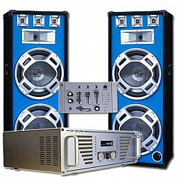 "Electronic-Star DJ kompletný set ""Bouncer"" zosilňovač, reproduktory, mixér"