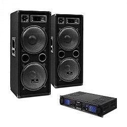 "Electronic-Star DJ sada ""DJ-20"" PA zosilňovač, PA reproduktor, 2000 W"