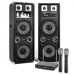 "Electronic-Star Karaoke Set ""STAR-210A"" PA reproduktory, bezdrôtový mikrofón, 1200W"