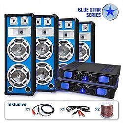 """Electronic-Star PA set Blue Star Series """"Bassveteran Quadro"""", 3200 W"""