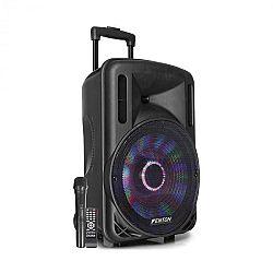 """Fenton FT12LED, aktívny reproduktor, 12"""", 700 W, BT/USB/SD/MP3/AUX, LED, akumulátor, vozíková konštrukcia"""