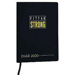 Fitfab Strong FITFAB DIÁR čierna NS - Týždenný fitness a motivačný diár na rok 2020