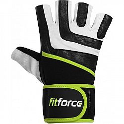 Fitforce DIRECT biela L - fitness rukavice