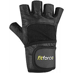 Fitforce FITNESS RUKAVICE čierna S - Rukavice na fitness