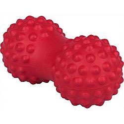 Fitforce MASSAGE BALL PEANUT červená NS - Masážna loptička