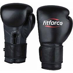 Fitforce PATROL čierna 14 - Tréningové boxerské rukavice