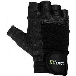 Fitforce PFR01 čierna XS - Fitness rukavice