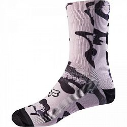 Fox W 8 PRINT SOCK zelená NS - Cyklistické ponožky