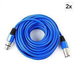 FrontStage XLR, modrá, sada dvoch XLR káblov, 10 m, samec na samica
