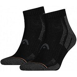 Head PERFORMANCE QUARTER 2PACK čierna 35-38 - Športové ponožky
