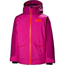 Helly Hansen JR STARLIGHT JACKET fialová 16 - Detská lyžiarska bunda