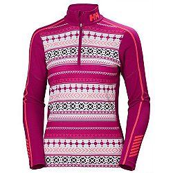 Helly Hansen LIFA ACTIVE GRAPHIC 1/2 ZIP ružová M - Dámske funkčné tričko