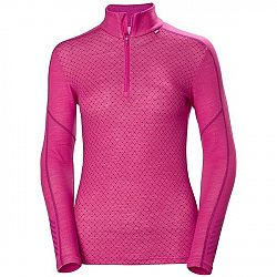 Helly Hansen LIFA MERINO GRAPHIC 1/2 ZIP ružová S - Dámske tričko