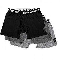 Horsefeathers DYNASTY 3PACK BOXER SHORTS čierna S - Pánske boxerky