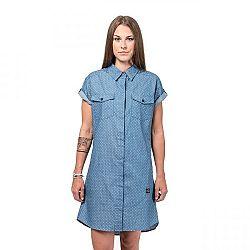 Horsefeathers KARLEE DRESS modrá S - Dámske šaty