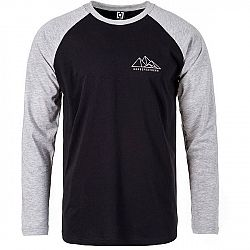 Horsefeathers PEAKS LS T-SHIRT čierna L - Pánske tričko s dlhým rukávom