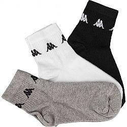 Kappa ZORAZ 3PACK čierna 43-46 - Ponožky