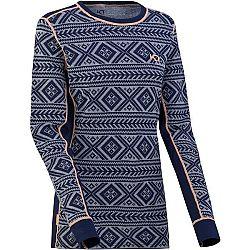 KARI TRAA FLOKE LS modrá XL - Dámske tričko s dlhým rukávom