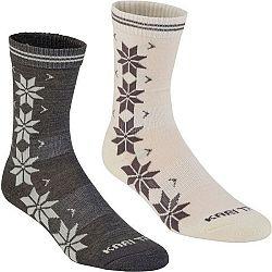 KARI TRAA VINST WOOL SOCK 2PK vínová 39-41 - Dámske ponožky