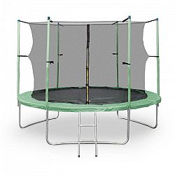 KLARFIT Rocketstart XXL, 305 cm trampolína, bezp. sieť, zel.