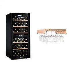 Klarstein Barossa 102 Duo, vinotéka, 2 zóny, 102 fliaš, polica na poháre na víno