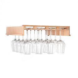 Klarstein Barossa 102D, polica na poháre na víno, príslušenstvo, 4 kolajničky, pravé drevo