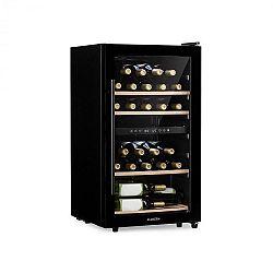 Klarstein Barossa 34D, vinotéka, 2 zóny, 26 fliaš, sklené dvierka, dotykové ovládanie, čierna