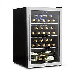 Klarstein Falcon Crest chladnička na nápoje, presklené dvere, 4-18°C, 128l, zámok, 42dB, ušľachtilá oceľ