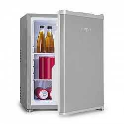 Klarstein Nagano M, mini chladnička, 44 l, 0 dB, 0 - 8 °C, nehlučná, 56 cm, strieborná
