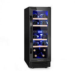 Klarstein Vinovilla Onyx17, dvojzónová vinotéka, 53 l, 17 fliaš, 3-farebné sklenené dvere