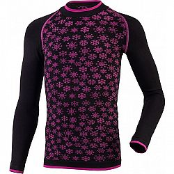 Klimatex ABBIE čierna 110-122 - Dievčenské funkčné bezšvové termo tričko