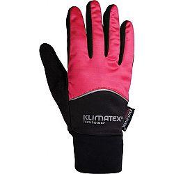 Klimatex DIOGO ružová L - Softshellové rukavice