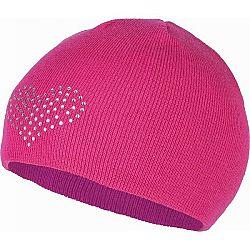 Lewro BEEDRIL ružová 12-15 - Dievčenská pletená čiapka