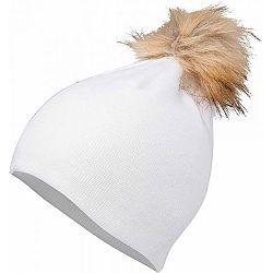 Lewro BIBAREL biela 12-15 - Dievčenská pletená čiapka